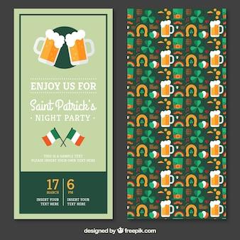 Convite do partido para o dia do St Patricks