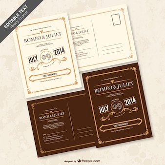 Convite editável casamento