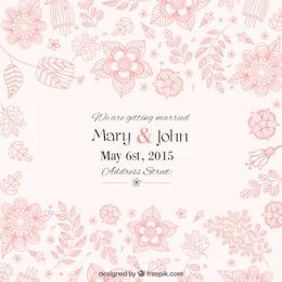 Convite floral bonito do casamento