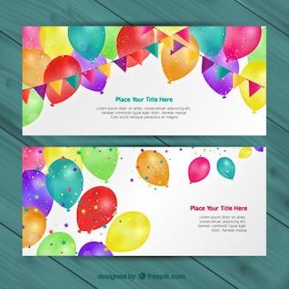 Convites de aniversário