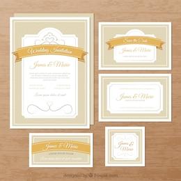 Convites elegantes do casamento