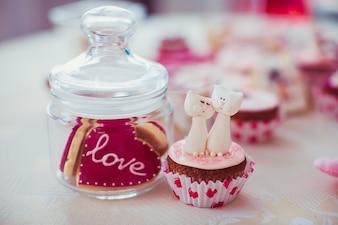 """Cookie com a palavra """"amor"""""""
