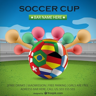 Copa de futebol cartaz fundo