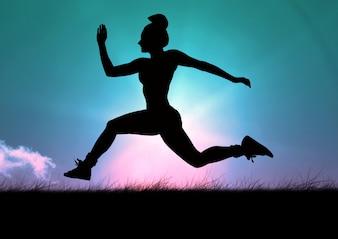 Cópia espaço formação do sexo feminino apertando as mãos de fitness