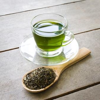 Copo de chá quente bebida do chá nutricional