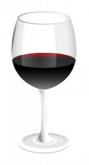 copo de vinho tinto