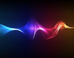 cor fumaça arte vetorial ondas