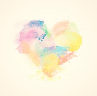 Coração colorido