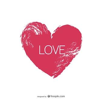 Coração de Grunge com letras de amor