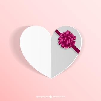 Coração em alto-relevo com fita