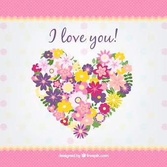 Coração feito de flores