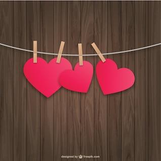 Corações de suspensão