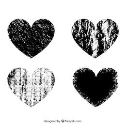 Corações estampados