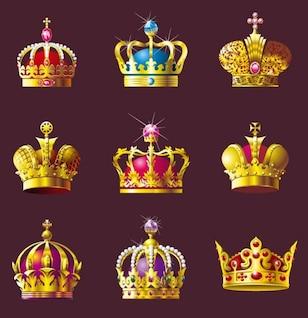 coroa conjunto de vetores