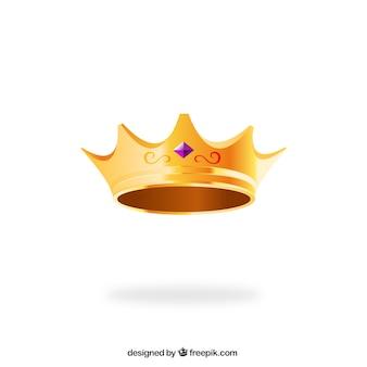Coroa dourada rainha
