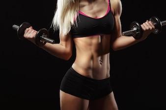 Corpo da mulher atleta
