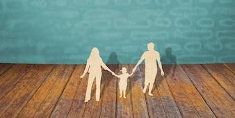 Corte do papel de símbolo da família