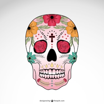 Crânio do vetor floral