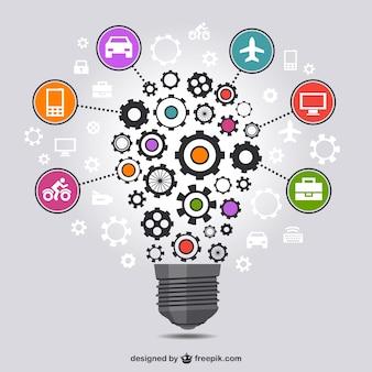 Criativa estratégia de negócios vetor