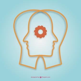 Criativo design vector mentes