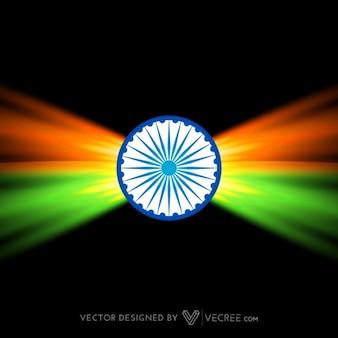 Criativo bandeira indiana escuro