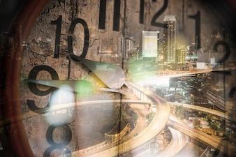 Cronograma de relógio de tempo de negócios urgência