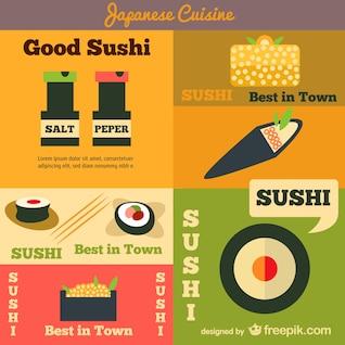 Culinária japonesa vetor publicidade