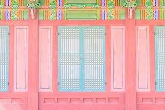 Cultura Coreia do palácio tradicional turista