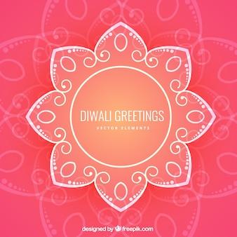 Cumprimentos de Diwali Floral