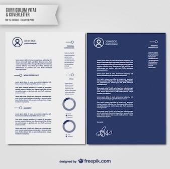 Curriculum vitae e carta de apresentação modelo