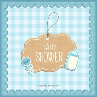 Cartão do chuveiro de bebê bonito