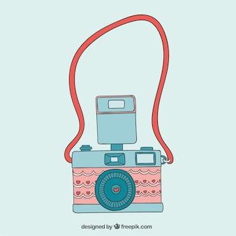 Câmera bonito no estilo do vintage