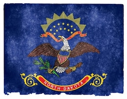 Dakota do Norte grunge bandeira