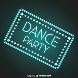 Dança do sinal da festa neon