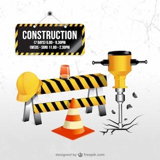 De acordo com os elementos de construção