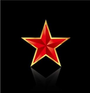 de cinco pontas material vetor estrelas