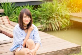 De verão para jovens inocência sorriso pessoas