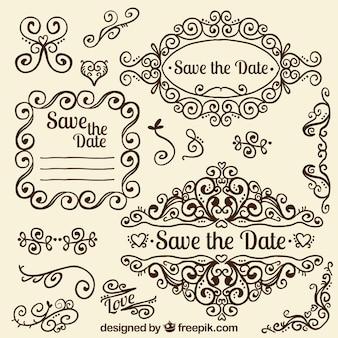 Decoração do casamento do Ornamental