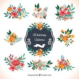 Decoração do casamento no estilo floral