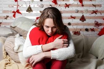 Decoração do feriado negativo bonito pullover