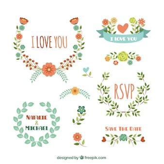 Decoração floral para o casamento