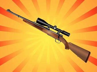 defesa ataque Sniper rifle vetor pacote