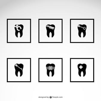 Dentista ícones download gratuito