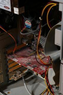 Dentro de um computador, micro
