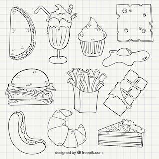 Desenho fast food