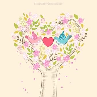 Desenho natureza romântica