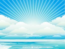 Desenho vetorial skyscape
