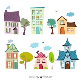 Desenhos animados Casas