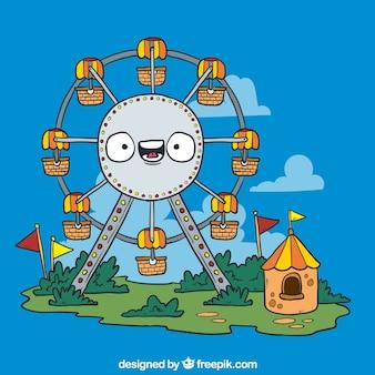 Desenhos animados roda gigante