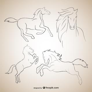 Desenhos de esboço Cavalo